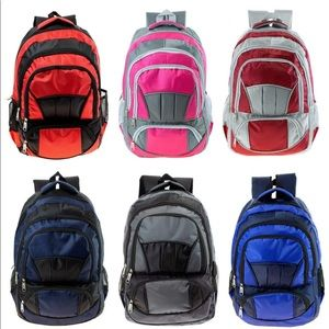 "Handbags - 19"" Heavy Duty Backpack w Needed School Supplies"